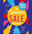 sale banner on colorful background vector image vector image