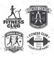 set fitness club badges concept vector image vector image