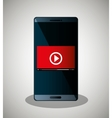 smartphone video line streaming icon design vector image