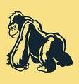 Stand Gorilla Line Art vector image