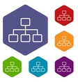 Structure rhombus icons vector image vector image