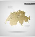 stylized switzerland map vector image