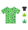 t-shirt composition of weed leaves vector image