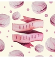 watercolor Happy birthday set with sweets vector image vector image