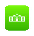 white house usa icon digital green vector image vector image