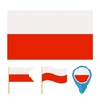 Poland country flag vector image