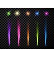 Festive color firework set vector image