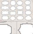 Vintage blank label set vector image