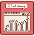 marketing statistics vector image