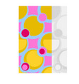 abstract colorful seamless pattern set vector image vector image