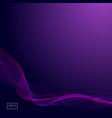 abstract dark purple waves line violet wave vector image vector image