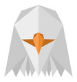 abstract low poly eagle icon vector image vector image