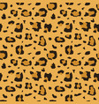 african cheetah leopard fur seamless vector image vector image