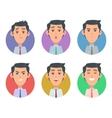 Avatar Userpics Emotions Variety of Male Feeings vector image vector image