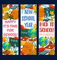 back to school stationery banners vector image vector image