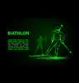 biathlon winter sport banner biathlon girl and vector image vector image