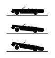 car speed set in black color vector image