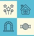 christmas icons set collection of festive vector image vector image