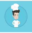 Confident male chief cooker with arms crossed vector image vector image