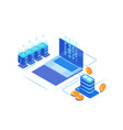 digital marketing management 3d coin servers vector image
