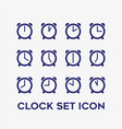 every hour clock timer icon set vector image