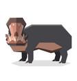flat geometric hippopotamus3 vector image vector image