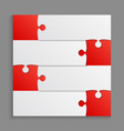 four red piece puzzle infographic 4 step puzzle vector image vector image