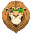 Friendly funny lion vector image vector image