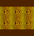golden pattern with bitcoins vector image
