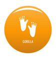 gorilla step icon orange vector image vector image