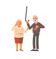 grandparents family seniors screaming in horror vector image vector image