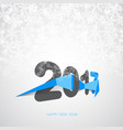 happy new year 2017 text design vector image