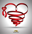 Heart ribbon Twist vector image vector image