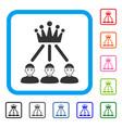 hierarchy men framed glad icon vector image vector image