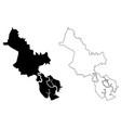 ho chi minh city province map vector image