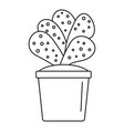 house cacti pot icon outline style vector image vector image