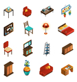 House Interior Icons Set vector image vector image