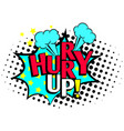 hurry up cartoon icon vector image vector image