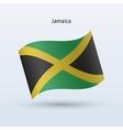 Jamaica flag waving form vector image
