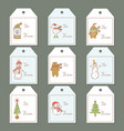labels for the christmas theme vector image vector image