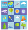 love earth poster with in cells vector image vector image