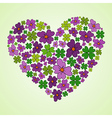 Love Spring heart vector image vector image