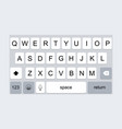 mobile keyboard template vector image