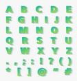 modern gradient paper cut alphabet letters vector image vector image
