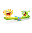Monsters playing vector image vector image