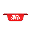new offer ribbon banner red promotion vector image