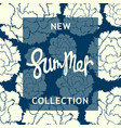 new summer collection design poster vector image