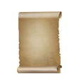 old paper scrolls banner vector image vector image