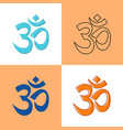 om aum symbol icon in flat and line style vector image