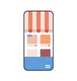 online shopping on website mobile application vector image
